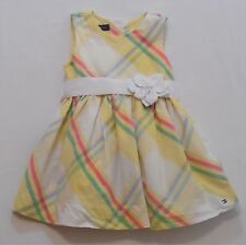 Tommy Hilfiger Lined Yellow Plaid Dress w/Ribbow Bow Belt, 18 mos.