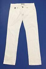 Xcape pantalone donna usato slim w34 tg 48 dritti bianco velluto stretch T2122