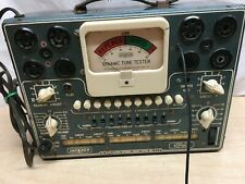 Vintage Jackson Model 115 Dynamic Tube Tester Ham Radio Equipment Tested working