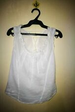 DIESEL LACED NECKLINE SLEEVELESS TOP TAG SIZE M