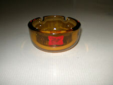 Miller High Life Beer The Champagne of Beers Ashtray Vintage Thick Amber Glass