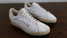 Men's Vtg 1980s White Leather REEBOK Newport Classic Tennis Athletic Sneakers 13
