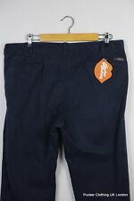 Pantaloni DA UOMO ARMANI COLLEZIONI ITALIANE CASUALS W 38 L 31 Chiusura Zip Blu Navy W 25