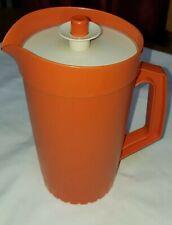 Tupperware Pitcher Orange Jug 674-14 Almond Seal VGC