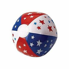 """4th of July Party Red, White and Blue Stars and Stripes Beach Ball,, 20"""" #185417"""