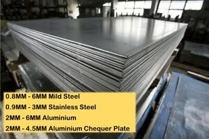 Cut To Size Steel Aluminium Stainless Sheet Plate 0.8MM 1MM 2MM 3MM 4MM 5MM 6MM