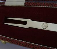 CASED 1632 COPY ENGLISH SOLID STERLING SILVER REPLICA MANNERS PICKLE FORK 1976