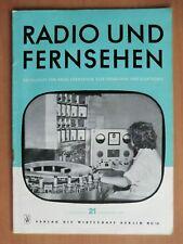 DDR Zeitschrift Radio Fernsehen 1957 Sony TR5 Bastei v. Funkwerk Dresden Röhren