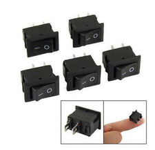 10pc SPST On/Off Black Square I/O Rocker Switch Mini Small Automotive/Car/Boat