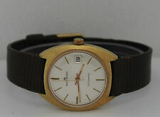 Vintage Bucherer Automatic Gold Filled Silver Dial 34mm Watch