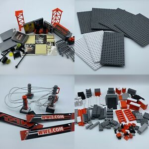 The Bridge Direct WWE StackDown Ring Set RAW Building Kit Replacement Parts Only