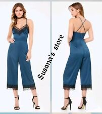 NWT bebe Lace Trim Jumpsuit SIZE XXS Lingerie-inspired, super sexy $160