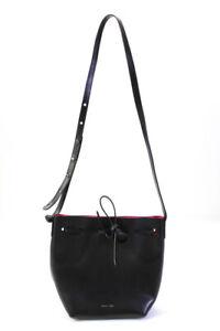 Mansur Gavriel Womens Leather Bucket Handbag Black