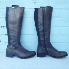 MODA in PELLE Leather Boots Size Uk 5 Eur 38 Womens Sexy Elasticated Brown Boots