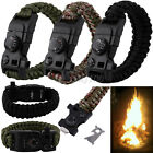 Outdoor Hiking Survival Compass+ Thermometer+ Bottle Opener Paracord Bracelet
