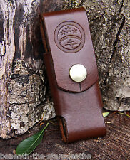 Custodia da Cintura in pelle fatto a mano si adatta PEN-Coltello o dc4 Ceramica Pietra per affilare e altro ancora!