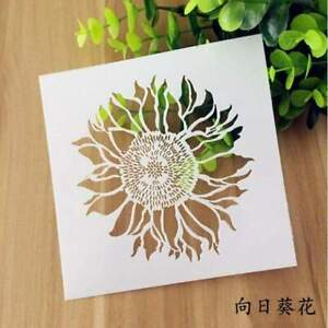 Sunflower Wall Stencil - Reusable Stencil - DIY Home Decor
