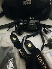 Vintage Minolta Maxxum 7000 Camera body only w/camera bag and other accessories