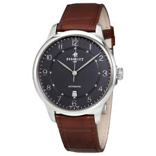 Perrelet First Class Anthracite Dial Automatic Mens Leather Watch A1049/6
