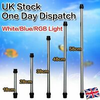 Aquarium Fish Tank Waterproof White/Blue 30cm-60cm LED Light Bar Submersible