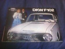 1962 Audi DKW Auto Union F102 Color Brochure Prospekt