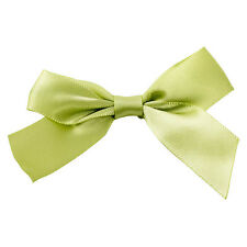 x100 Sage Green Twist Tie Bows 7.6cm st patricks day cake pop decoration fasten