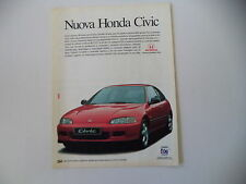 advertising Pubblicità 1992 HONDA CIVIC