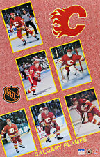1991 Calgary Flames Collage Original Starline Poster  RARE Vernon Fleury Suter