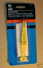AT&T  INSTALLATION TOOL AND TELEPHONE LINE TESTER 57989