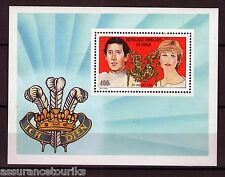 CONGO - 1981 YT 28 - MARIAGE ROYAL - BLOC TIMBRES NEUFS** LUXE