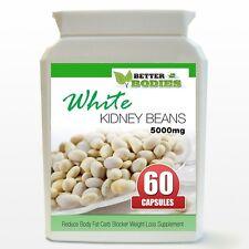 White Kidney Bean 5000mg HIGH STRENGTH Reduce Body Fat Carb Blockers 60 Bottle