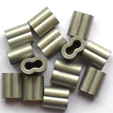 8 Gauge, 9 Gauge or 10 Gauge Aluminum Crimp Sleeves for Wire Fence 50 Pk