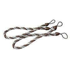 """Shatex Drape Curtain rope Tiebacks Holdbacks, 27""""coffee 1pair"""