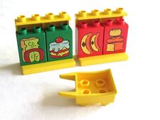 Lego Duplo Playville Grocerystore 2640 Shelf Shopping Cart Cheese Cake Bread Ban