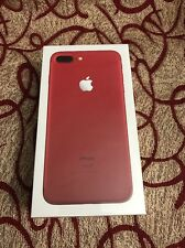 Apple iPhone 7 Plus 128 GB RED Factory Unlocked International Use Only Brand New