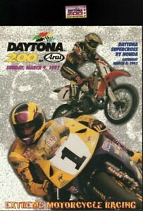 1997 Daytona 200 Official Program & Collector Pin - Vintage Motorcycle Racing
