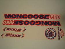 Mongoose Pro Rx 10.9 Titanium Stickers Blue, Orange & White.