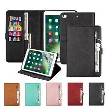 For iPad Mini 1 2 3 4 /iPad 2 3 4Smart Pu Leather Wallet Zipper Flip Case Cover