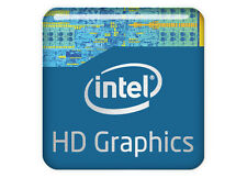 "Intel HD Graphics 1""x1"" Chrome Effect Domed Case Badge / Sticker Logo"