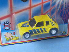 Matchbox Peugeot 205 Yellow Body Turbo Two Toy Model Car 65mm Long Blister pack