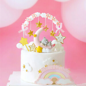 Star Tassel Arch Cake Toppers for Baby Shower Birthday Party Cake Dessert Decor