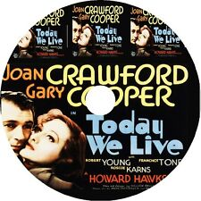 Today We Live DVD Joan Crawford Gary Cooper 1933 pre code V rare