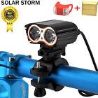 Waterproof 10000LM 2x XM-L T6 LED USB Lamp Bike Bicycle Headlight + Rear Light