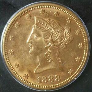 1888 $10 Liberty Head Gold Eagle PCGS AU55
