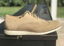 COLE HAAN CLASSIC GRAND II WINGTIP OXFORD SUEDE SIZE 8 NEW RETAIL $230(C24088)