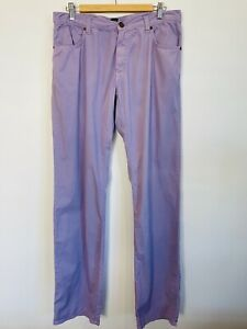 Etro Milano NWOT Size 34 Men's Purple Chinos Made In Italy Designer NEW