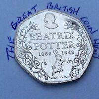 Circulated 2016 150th Anniversary 50p Coin Beatrix Potter Commemorative