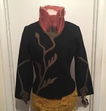 Covelo Pink Poppy Sweater Jacket Zip Up Boiled Wool Size Small S Anthropologie