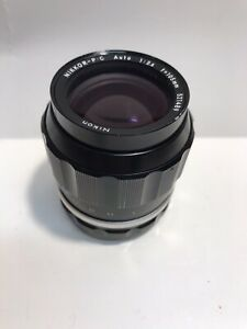 Nikon Nikkor-P-C Auto 1:2.5 f=105mm Camera Lens Made In Japan 521489