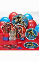 TRANSFORMERS 8 PERSON BIRTHDAY PARTY PACK SUPPLIES DECORATIONS BALLOONS PLATES